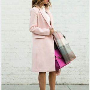 Banana Republic Blush Pink Wool Coat NWT